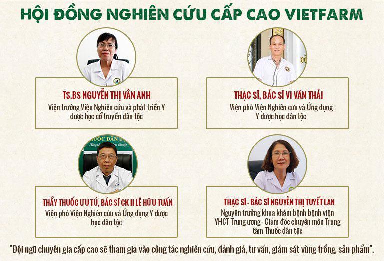 Những chuyên gia hàng đầu thuộc hội đồng nghiên cứu cấp cao Vietfarm