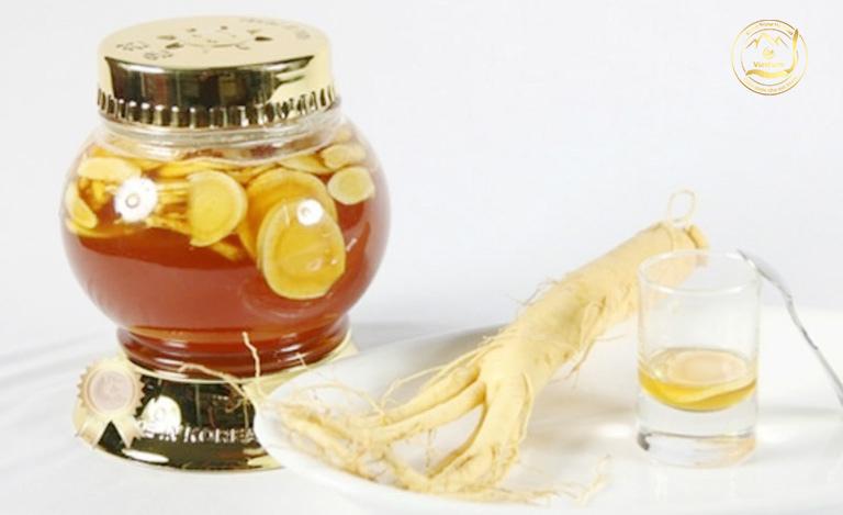 Đông trùng hạ thảo ngâm mật ong hồng sâm Vietfarm