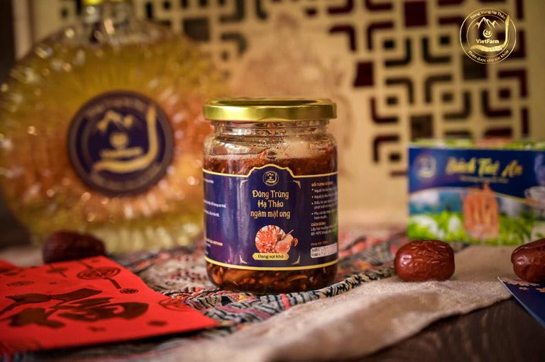 Đông trùng hạ thảo ngâm mật ong Vietfarm vị thanh ngọt, tiện lợi sử dụng