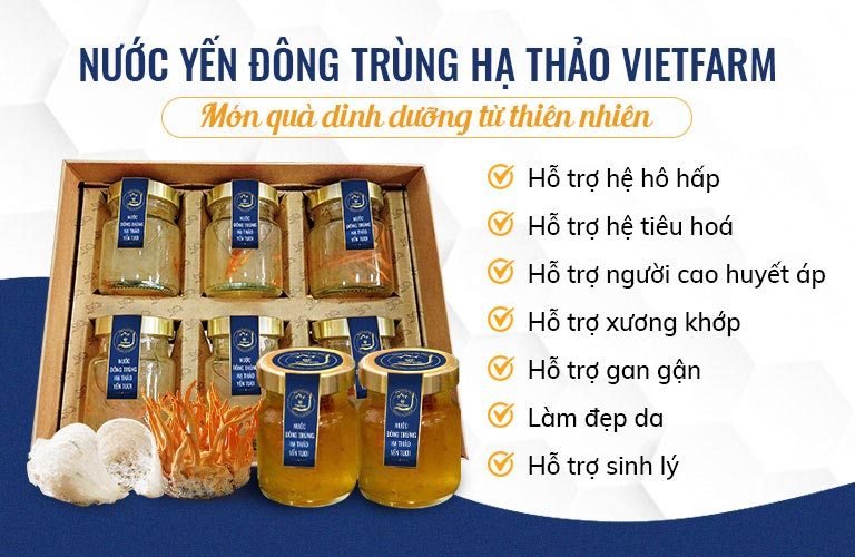 Nước đông trùng hạ thảo yến tươi Vietfarm - Thức uống tươi mát bổ dưỡng cho sức khoẻ