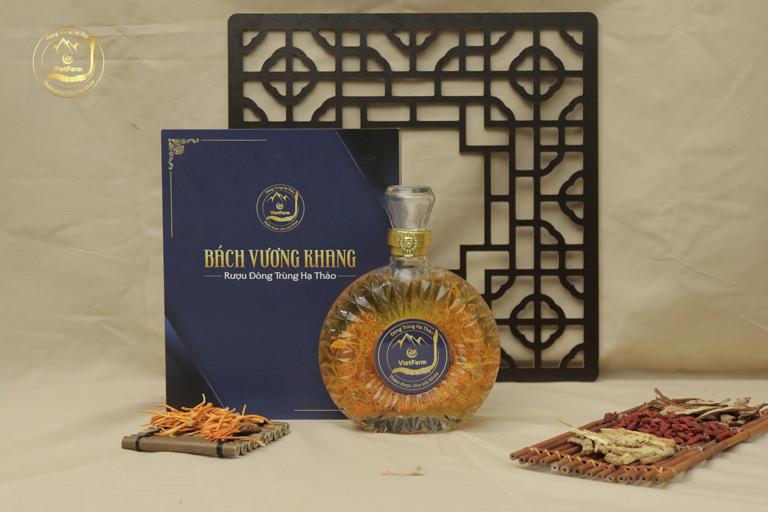 Rượu đông trùng hạ thảo Bách Vương Khang thượng hạng