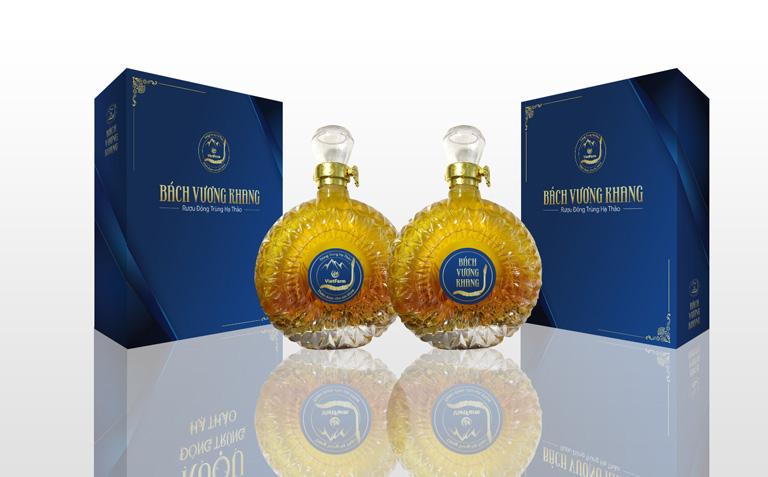 Sản phẩm rượu Bách Vương Khang sang trọng tinh tế nổi tiếng của Vietfarm