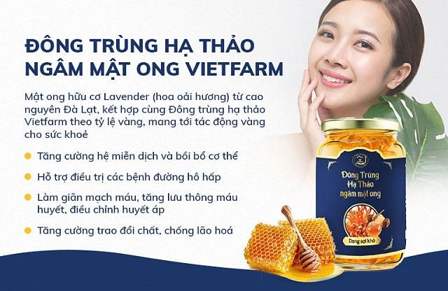 Công dụng của đông trùng hạ thảo ngâm mật ong Vietfarm