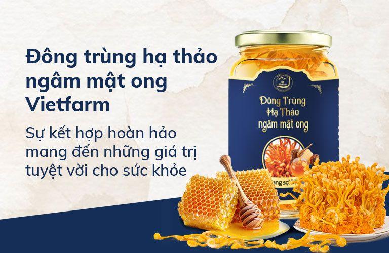 Đông trùng hạ thảo ngâm mật ong Vietfarm