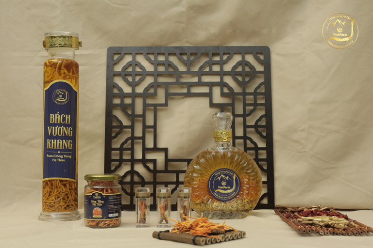Các sản phẩm rượu đông trùng hạ thảo Vietfarm sở hữu thiết kế mạnh mẽ, phá cách, sang trọng