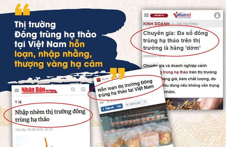 """Thị trường đông trùng hạ thảo tại Việt Nam """"vàng thau lẫn lộn"""""""