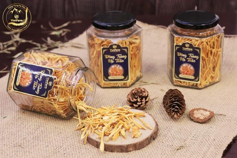 Sản phẩm Đông trùng hạ thảo Vietfarm khô dạng sợi nấm